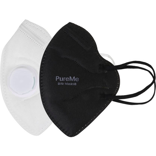 PureMe Anti Pollution Anti PM2.5 Mask with Exhalation Valve (usage upto 100 ...
